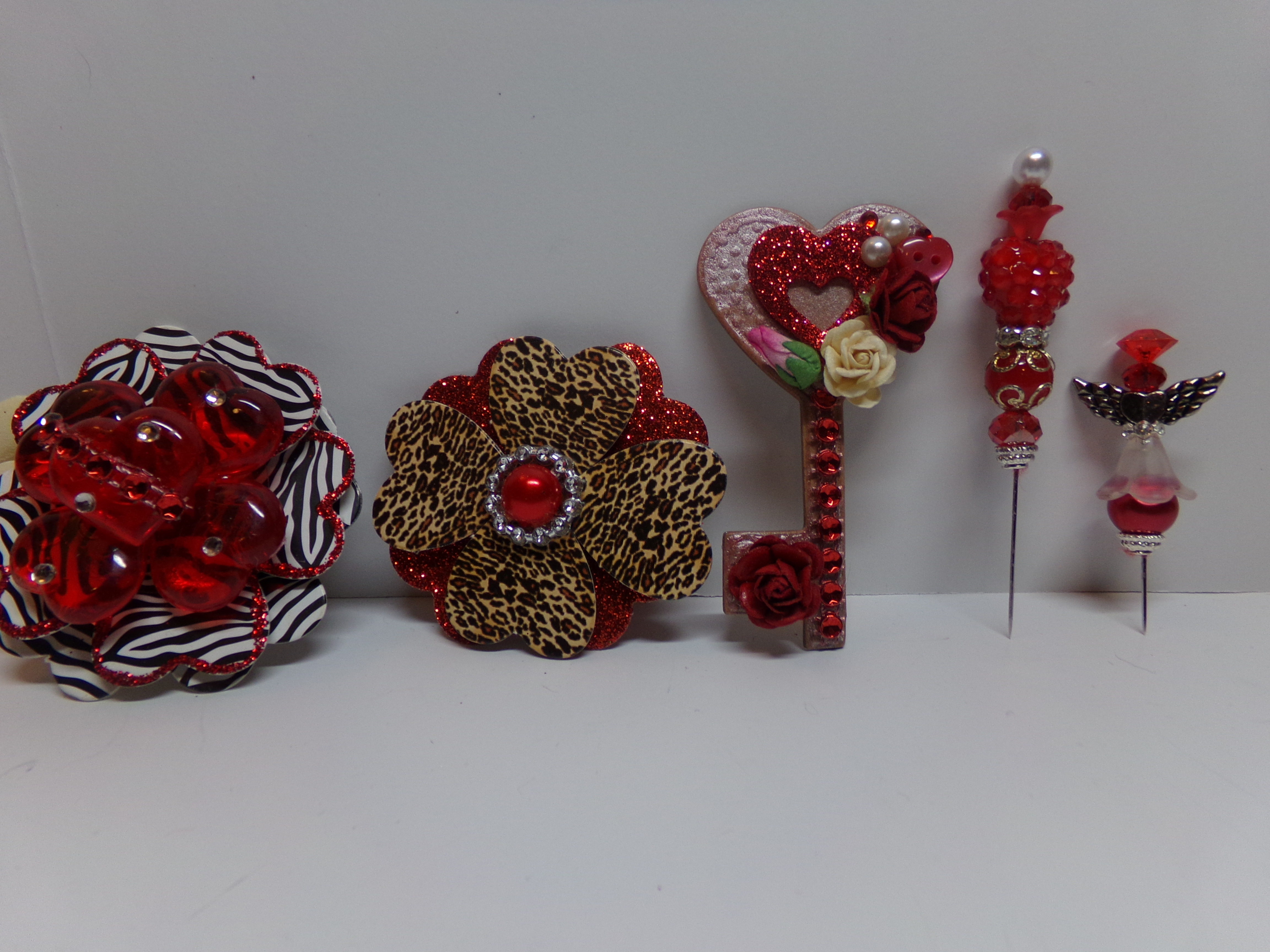 22049f1d0f7 Blinged out Sunglasses and Heart Flower. Embellishments for CWA Challenge