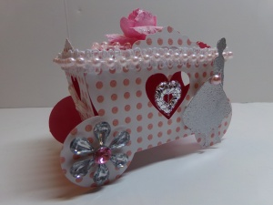 Princess Carriage Favor Box Angled View