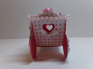 Princess Carriage Favor Box Side