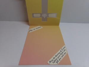 Cross Window Card Inside