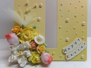 Cross Window Card Flower Cluster
