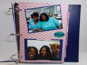 Divider page with crafty friends photos
