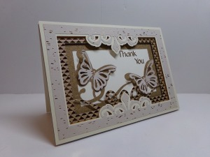 Butterfly Shadow Box Thank You Card