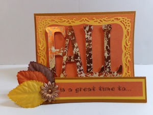 Fall Is Birthday Card Front View