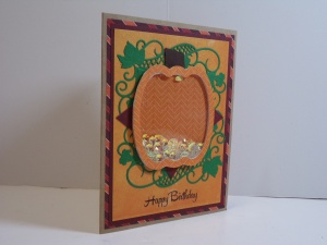 Pumpkin Shaker Birthday Card