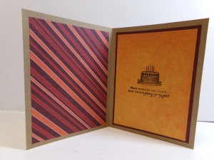 Pumpkin Shaker Birthday Card Inside