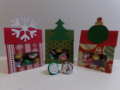 Christmas Treat Bag Toppers and Hershey Kiss Bottoms