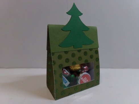 Christmas Tree Treat Bag Topper Front