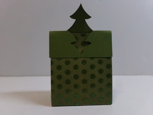 Christmas Tree Treat Bag Topper Back