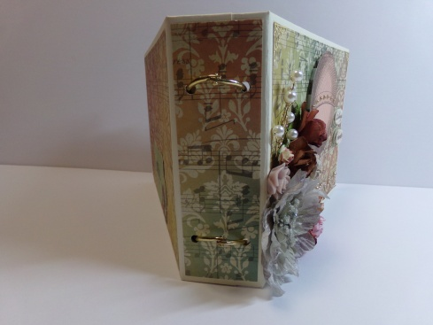Vintage Ring Bound Mini Album Spine