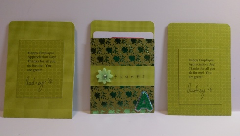 Gift Card Holders - Back View