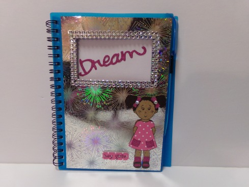 Altered Notebook featuring Elisha Jean Stamp