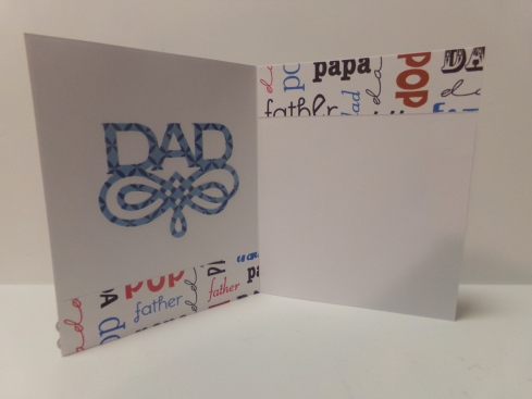 Shirt and Tie Father's Day Card - Inside