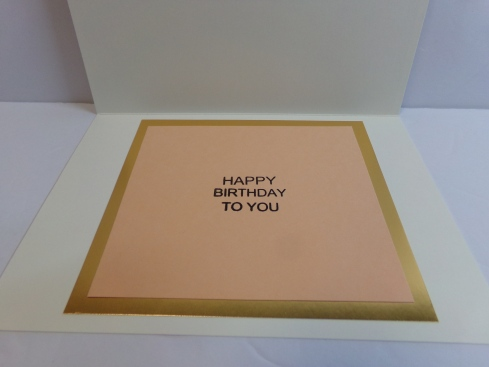 Birthday Fun Cake Card Inside
