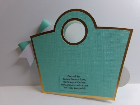 Birthday Purse Gift Card Holder Back