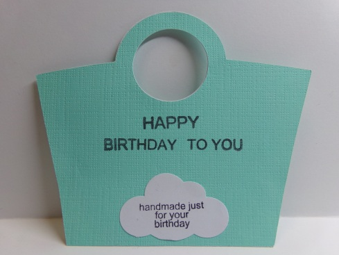 Birthday Purse Gift Card Holder Insert Back