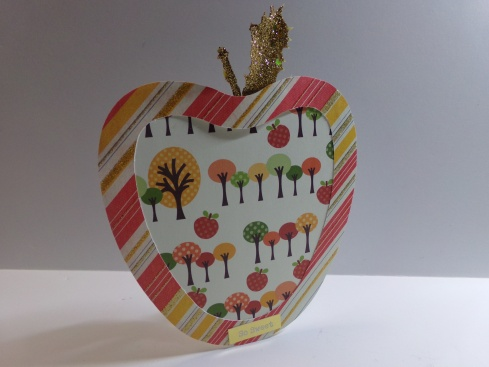 Apple Treat Cup Card Picture Frame