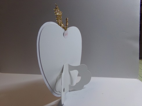 Apple Treat Cup Card Picture Frame Back