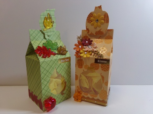 Fall Themed Milk Cartons
