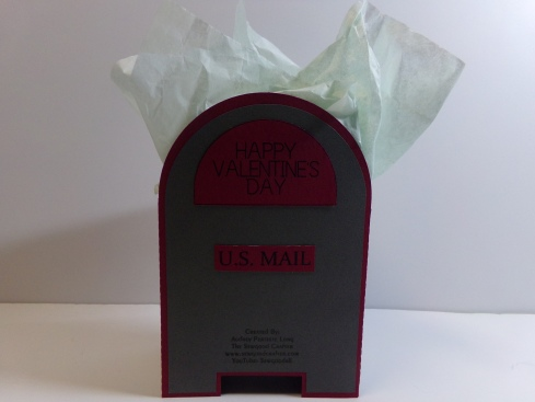 Masculine Valentine Treat Mailbox Back