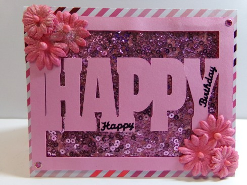 Everyday Happy Word Card Front