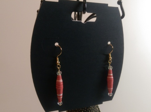 Paper Bead Earrings and Earring Card