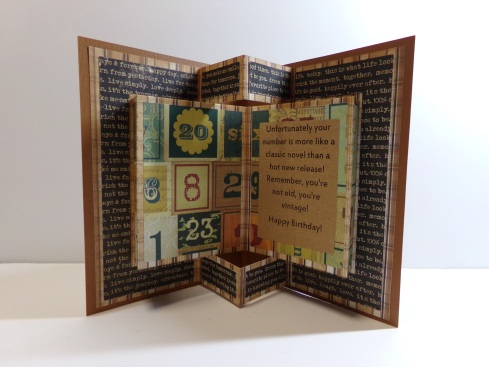 Pop Out Book Vintage Birthday Card Inside