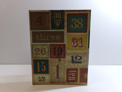 Pop Out Book Vintage Birthday Card - Back