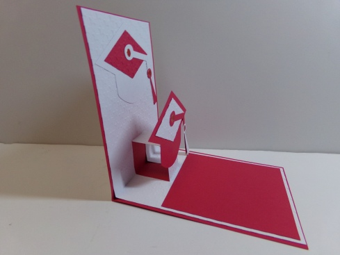 Graduation Pop Up Card Inside Side View