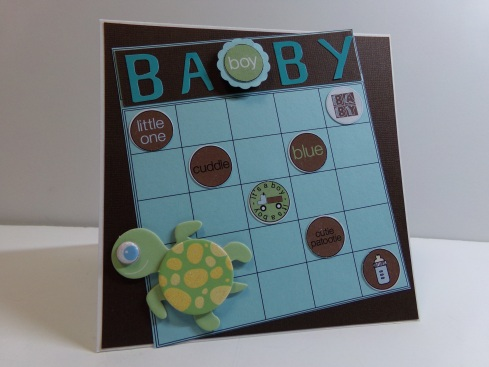 Baby Boy Bingo Card Angled View