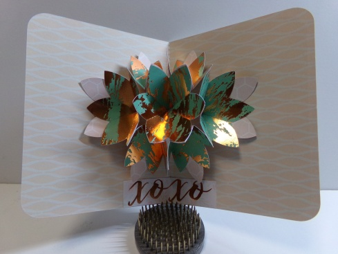 Flower Pop Up Card Inside