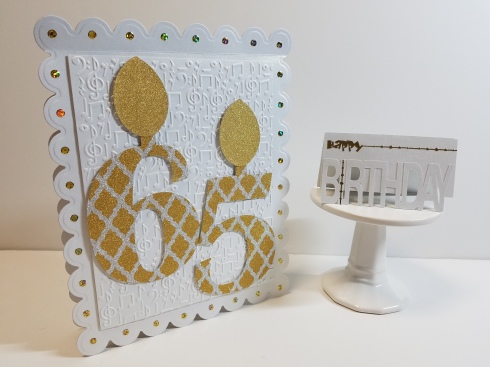 Jumbo 65th Card and Gift Card Holder