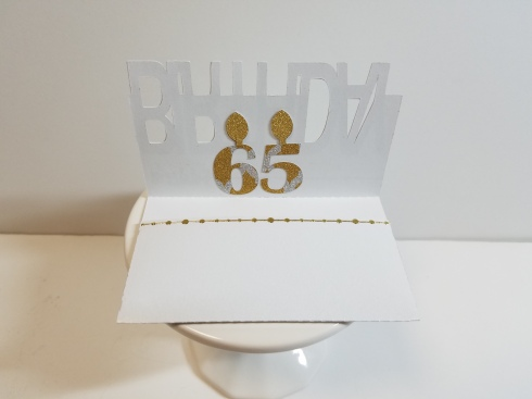 65th Birthday Gift Card Holder Inside
