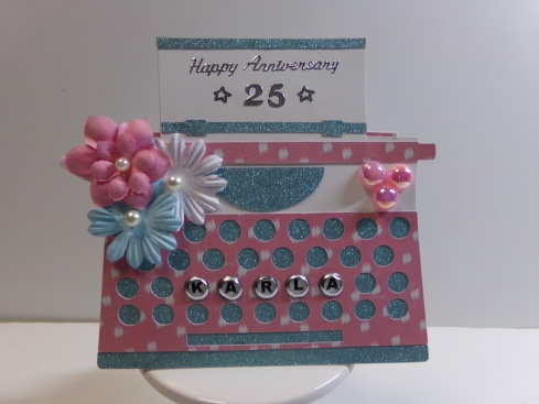 Typewriter Shaped Card Front View