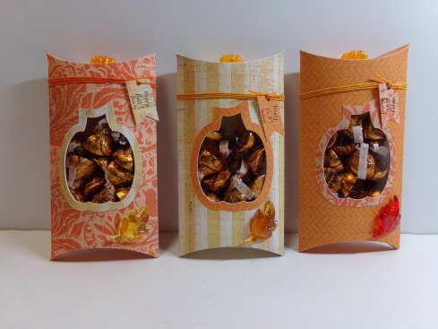 Pumpkin Pillow Boxes