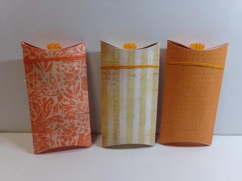 Pumpkin Pillow Boxes - Back