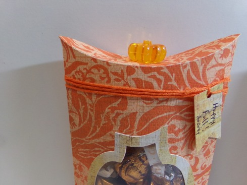 Pumpkin Pillow Boxes - Top