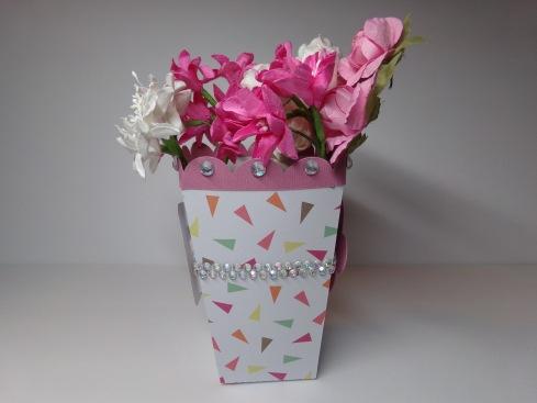Popcorn Box Vase Side